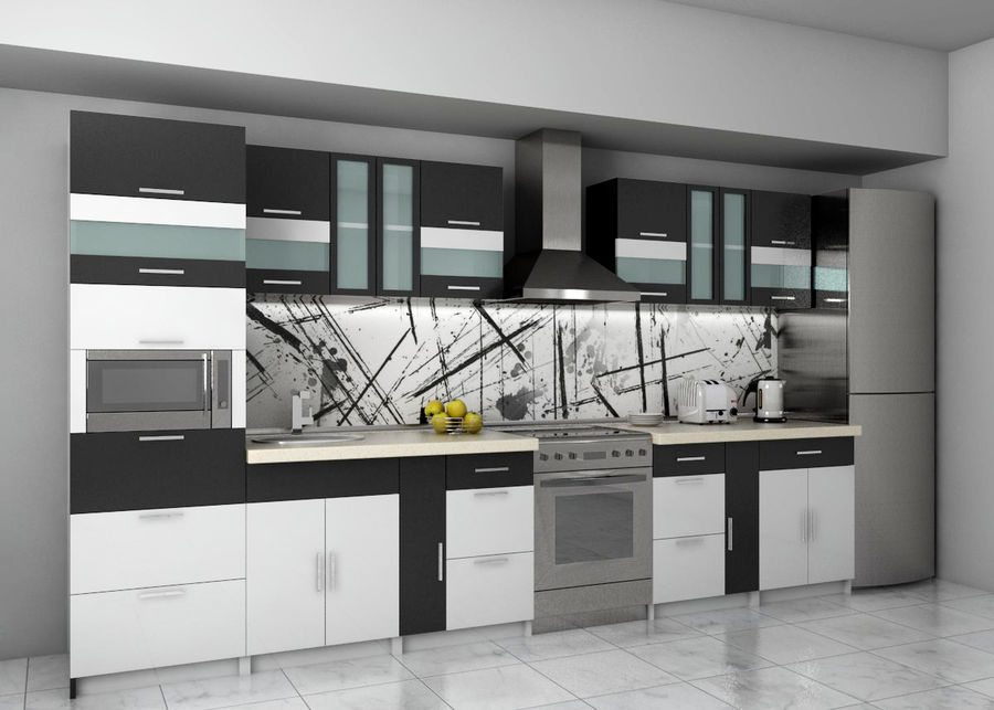 Kitchen 2 royalty-free 3d model - Preview no. 1