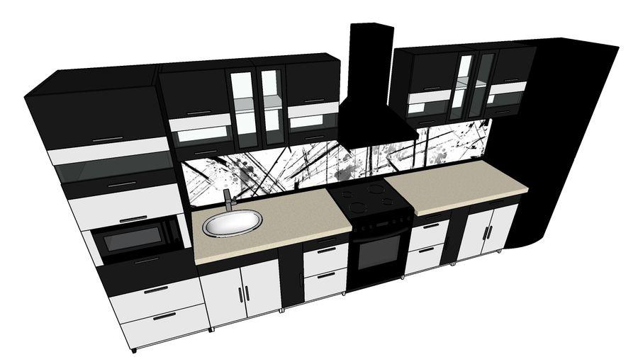 Kitchen 2 royalty-free 3d model - Preview no. 4