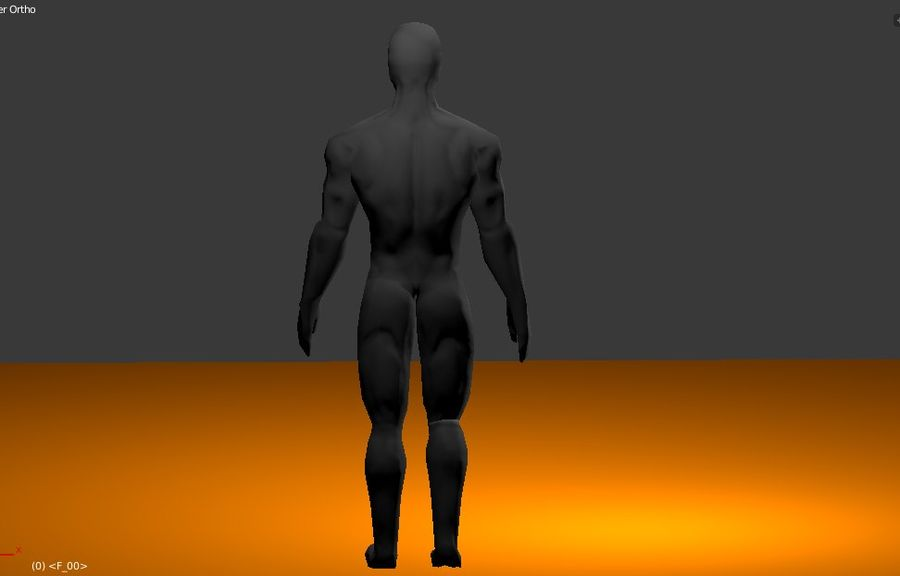 Animated male character royalty-free 3d model - Preview no. 1
