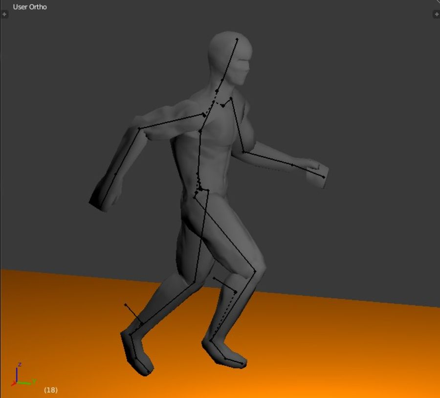 Animated male character royalty-free 3d model - Preview no. 3