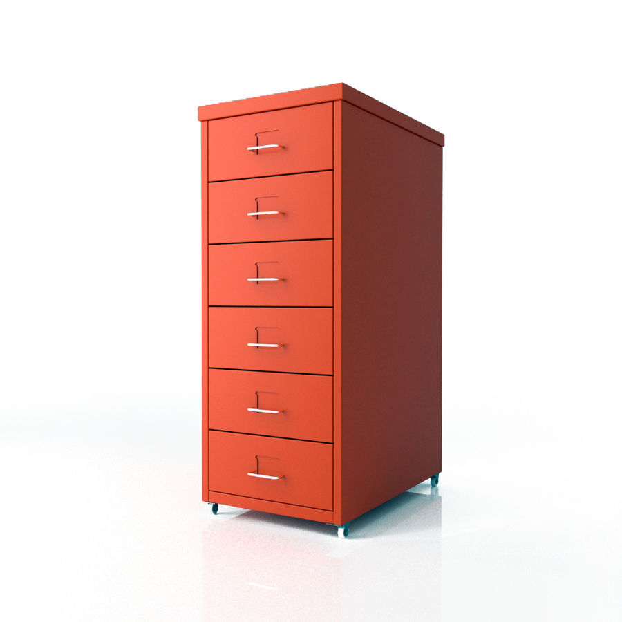 IKEA Helmer - drawer royalty-free 3d model - Preview no. 1