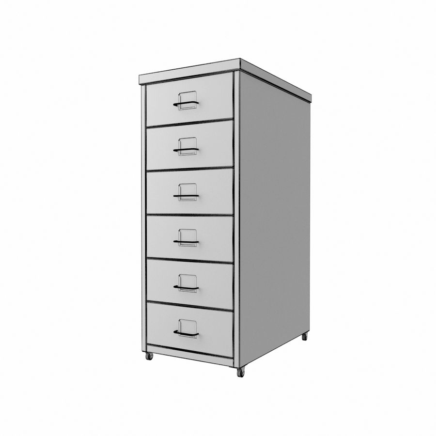 IKEA Helmer - drawer royalty-free 3d model - Preview no. 3