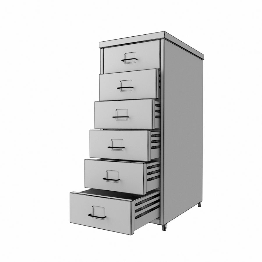 IKEA Helmer - drawer royalty-free 3d model - Preview no. 5