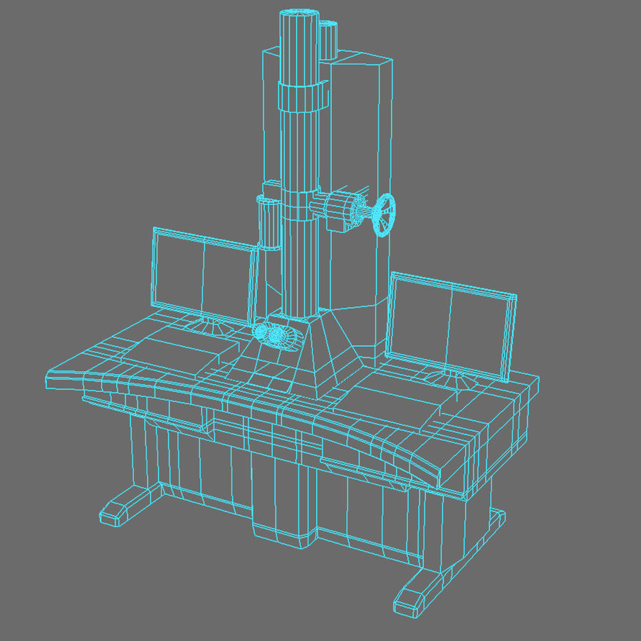 Электронный микроскоп royalty-free 3d model - Preview no. 6