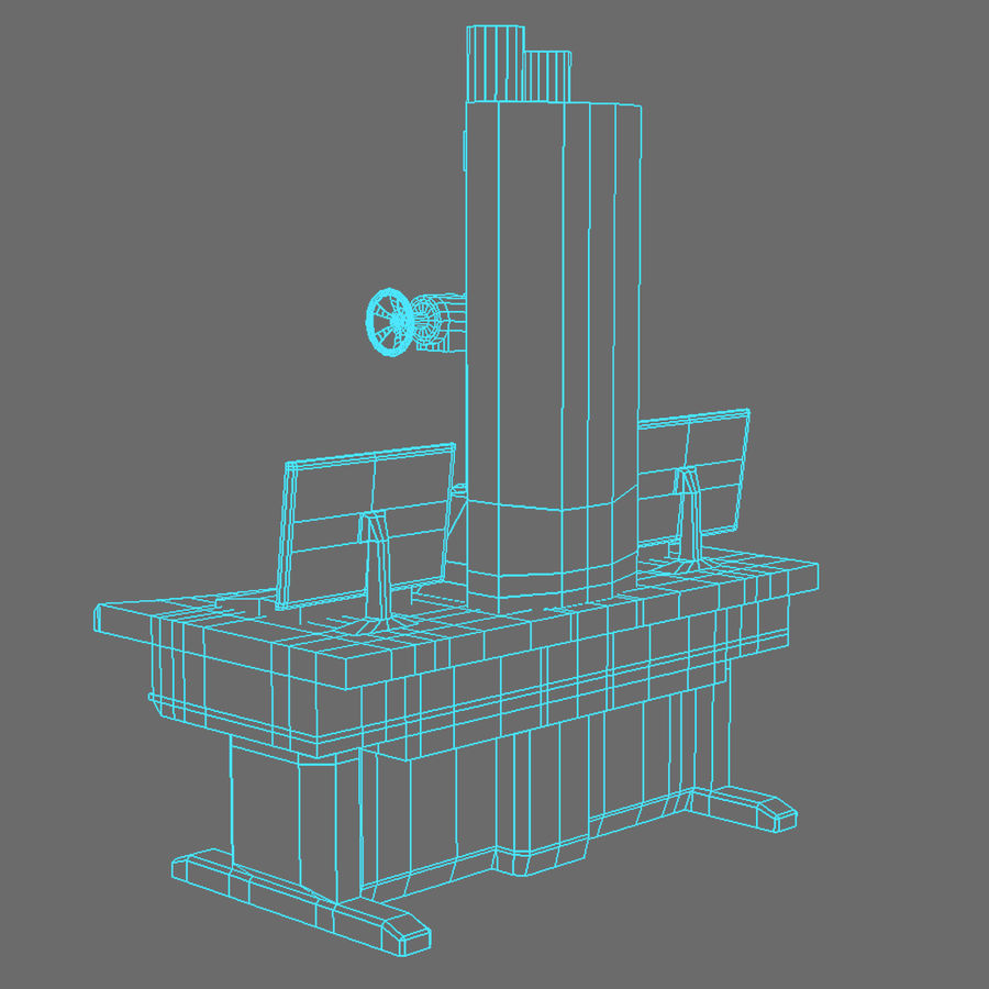 Электронный микроскоп royalty-free 3d model - Preview no. 9