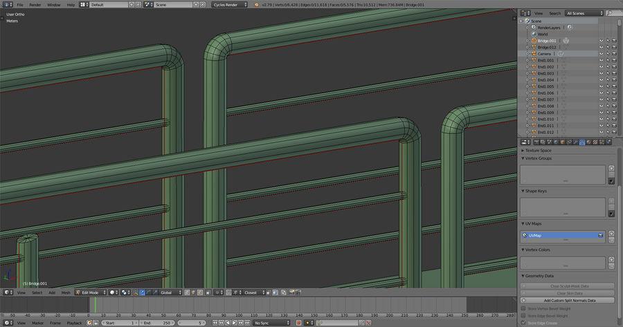 Modular Bridge royalty-free 3d model - Preview no. 12