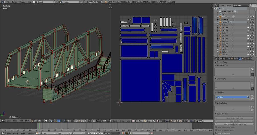 Modular Bridge royalty-free 3d model - Preview no. 13