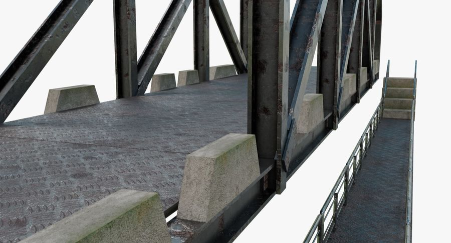 Modular Bridge royalty-free 3d model - Preview no. 3