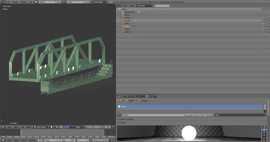 Modular Bridge royalty-free 3d model - Preview no. 15