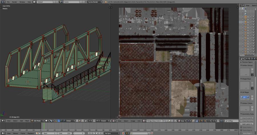 Modular Bridge royalty-free 3d model - Preview no. 14