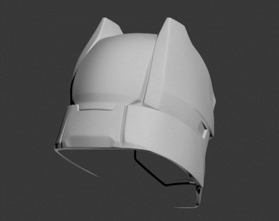 Batman Armor Helmet (Batman v Superman) royalty-free 3d model - Preview no. 7