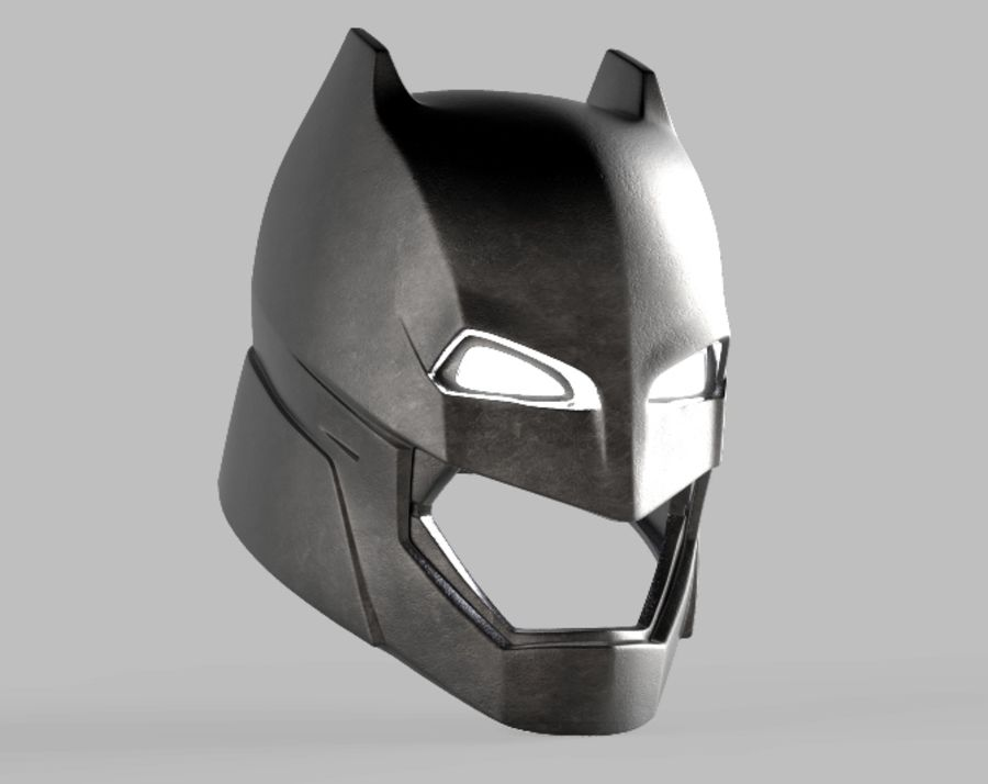 Batman-Rüstungshelm (Batman v Superman) royalty-free 3d model - Preview no. 3