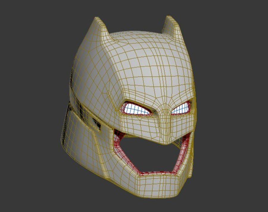 Batman-Rüstungshelm (Batman v Superman) royalty-free 3d model - Preview no. 8