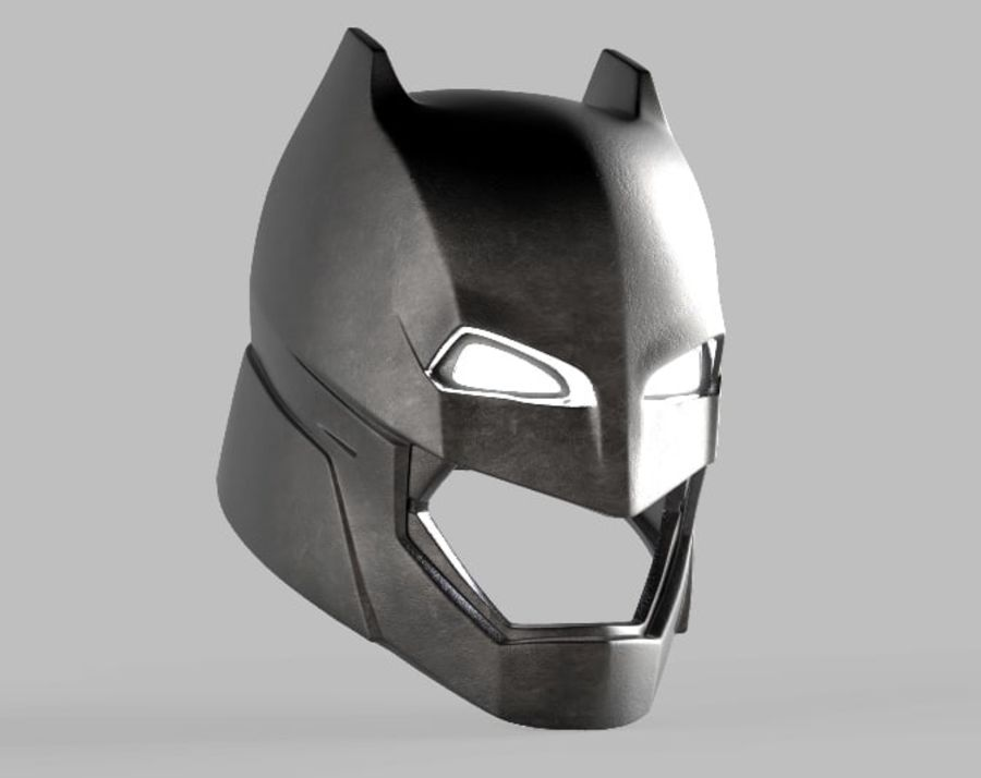 Batman Armor Helmet (Batman v Superman) royalty-free 3d model - Preview no. 3