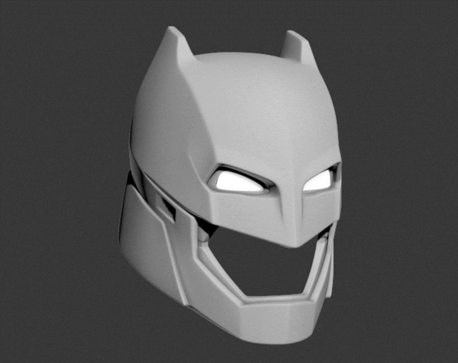 Batman Armor Helmet (Batman v Superman) royalty-free 3d model - Preview no. 5