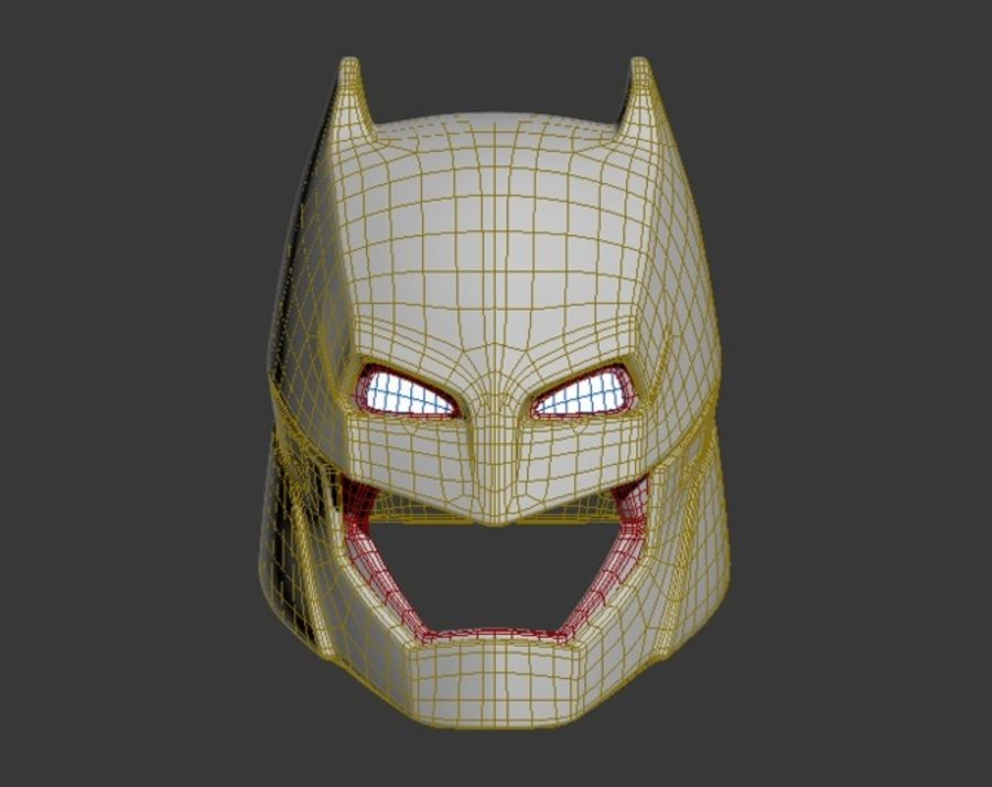 Batman Armor Helmet (Batman v Superman) royalty-free 3d model - Preview no. 9