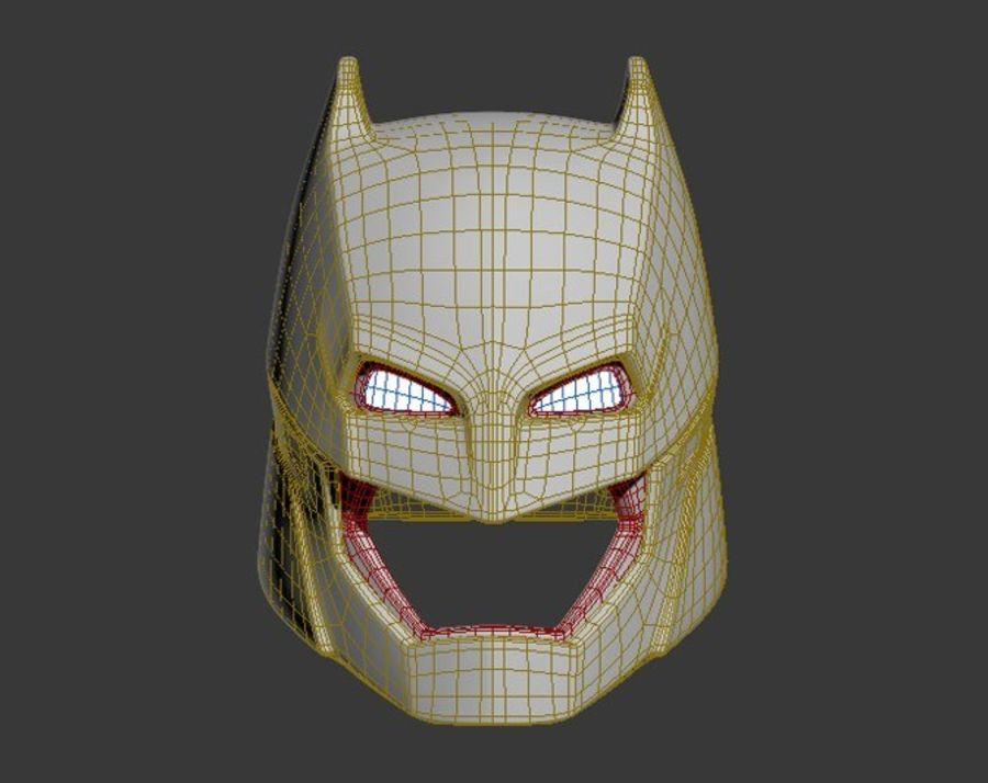 Batman-Rüstungshelm (Batman v Superman) royalty-free 3d model - Preview no. 9