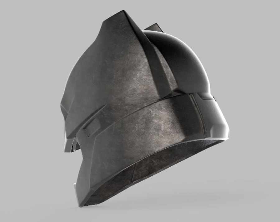 Batman Armor Helmet (Batman v Superman) royalty-free 3d model - Preview no. 4