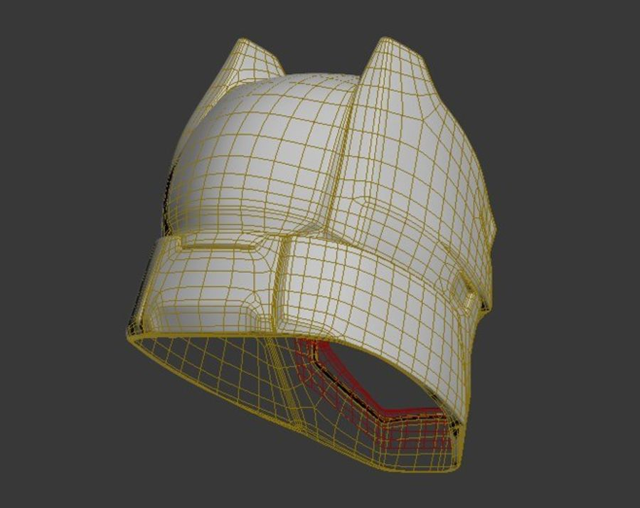 Batman Armor Helmet (Batman v Superman) royalty-free 3d model - Preview no. 10