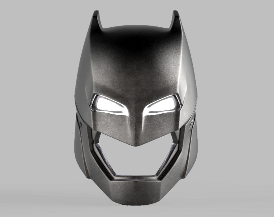 Batman Armor Helmet (Batman v Superman) royalty-free 3d model - Preview no. 2