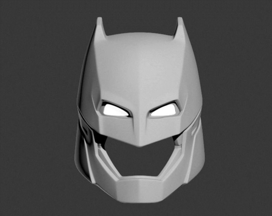 Batman Armor Helmet (Batman v Superman) royalty-free 3d model - Preview no. 6