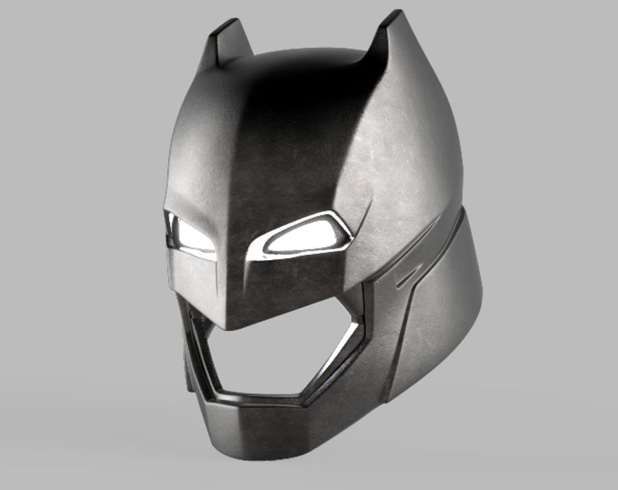 Batman Armor Helmet (Batman v Superman) royalty-free 3d model - Preview no. 1