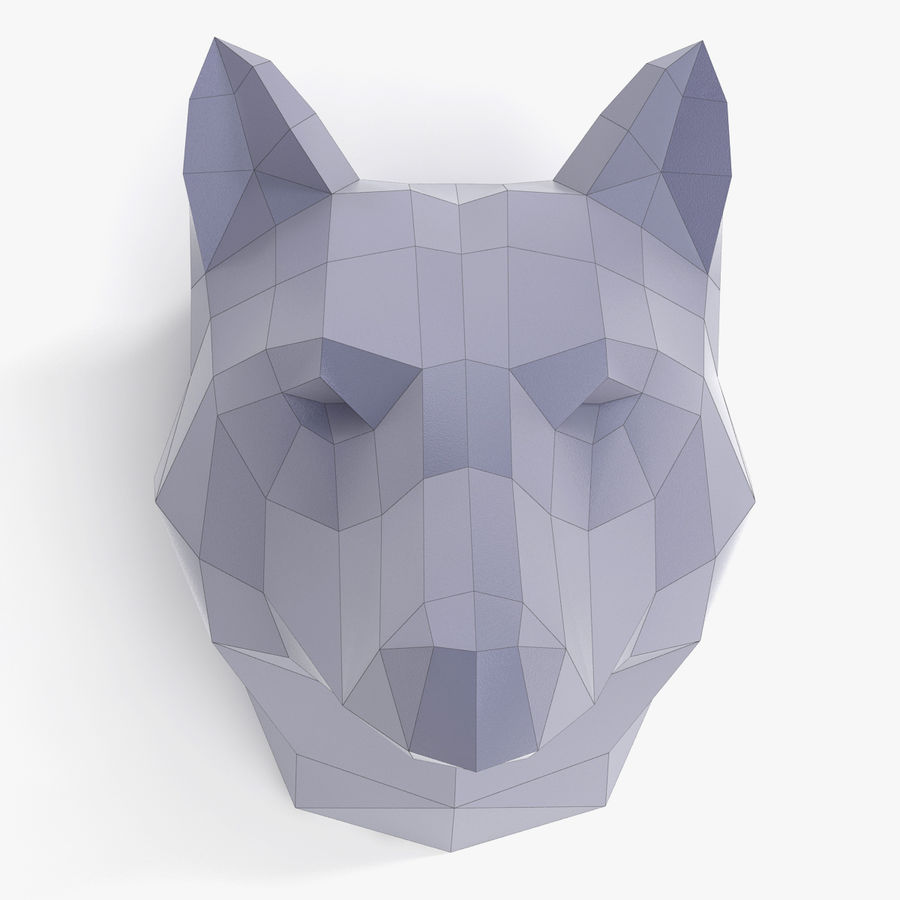 Wolf Papercraft royalty-free 3d model - Preview no. 2