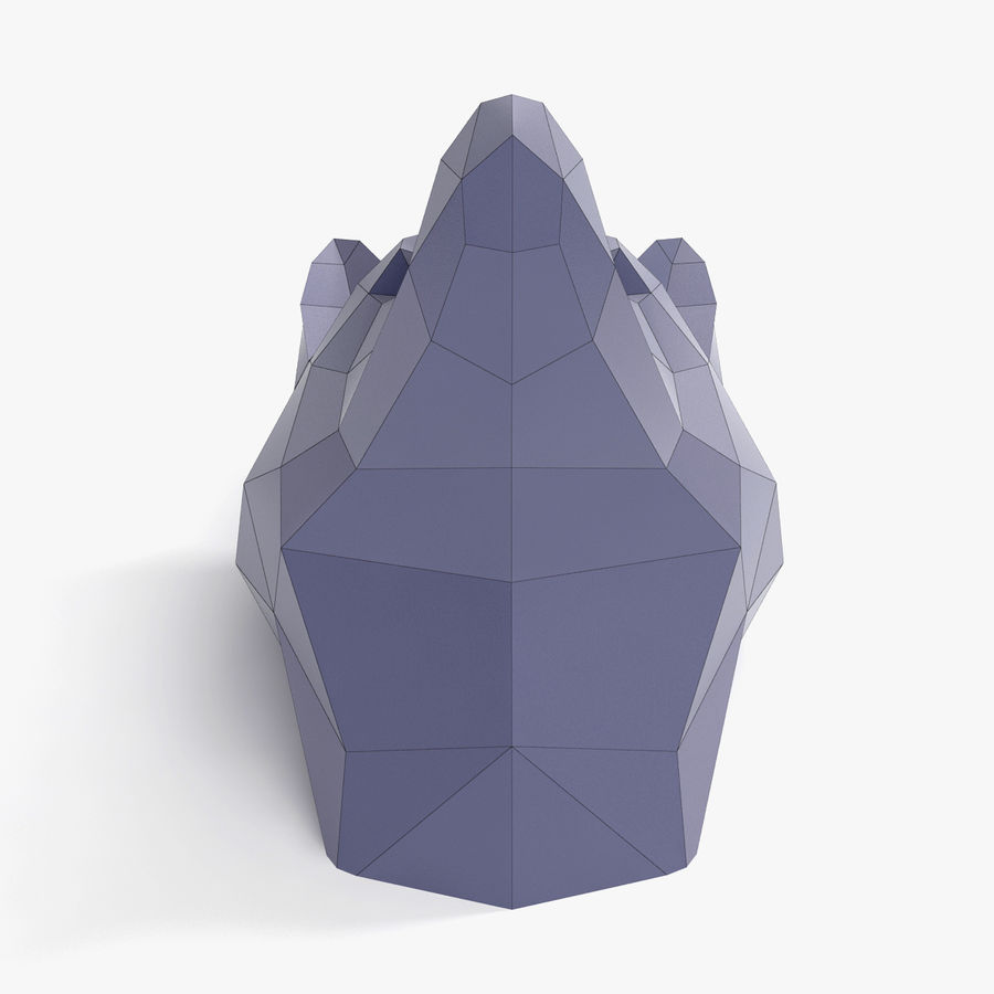 Wolf Papercraft royalty-free 3d model - Preview no. 4