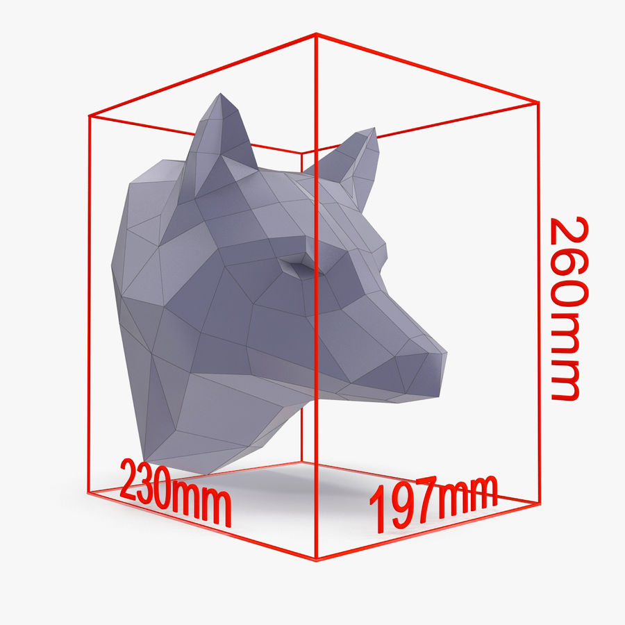 Wolf Papercraft royalty-free 3d model - Preview no. 7