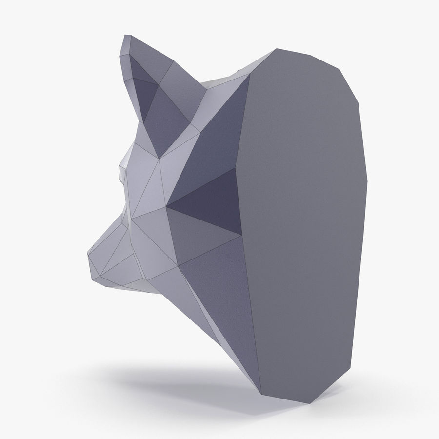 Wolf Papercraft royalty-free 3d model - Preview no. 6