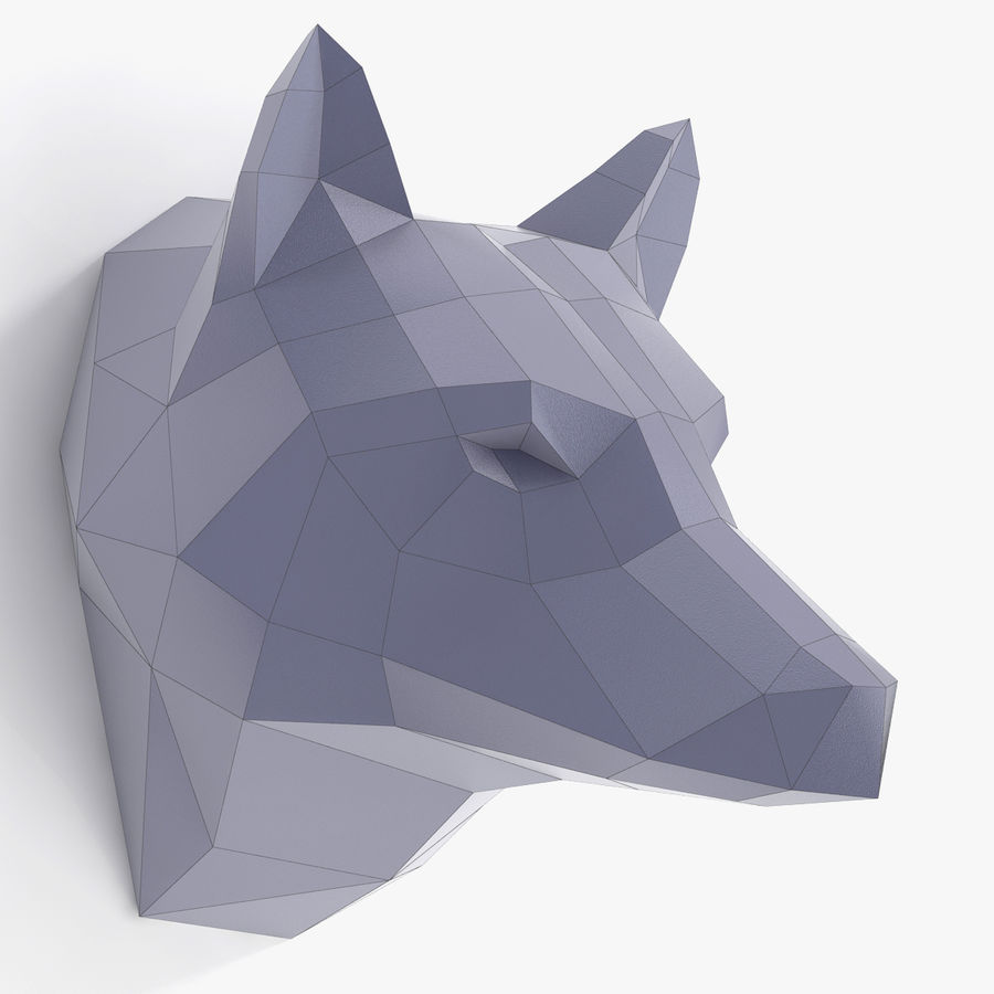 Wolf Papercraft royalty-free 3d model - Preview no. 1