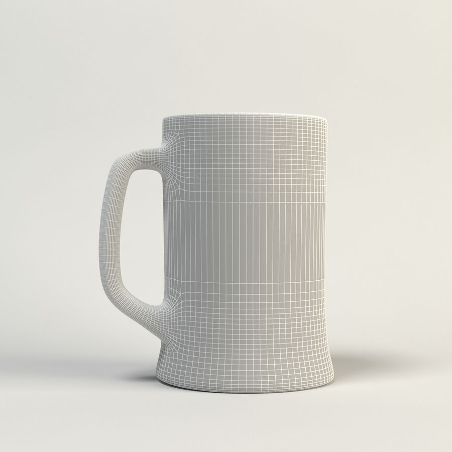 copo de cerveja claro royalty-free 3d model - Preview no. 6