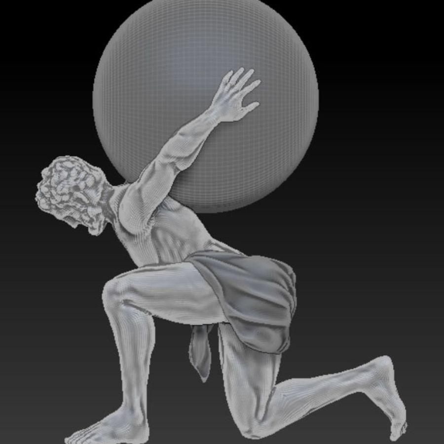 Статуя Атласа royalty-free 3d model - Preview no. 5