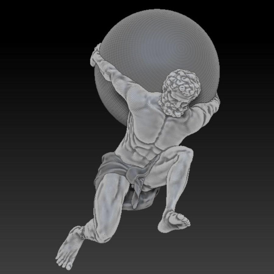 Статуя Атласа royalty-free 3d model - Preview no. 1