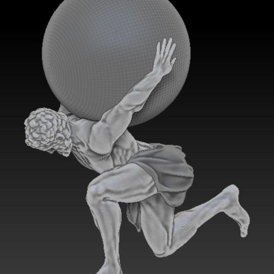 Статуя Атласа royalty-free 3d model - Preview no. 4