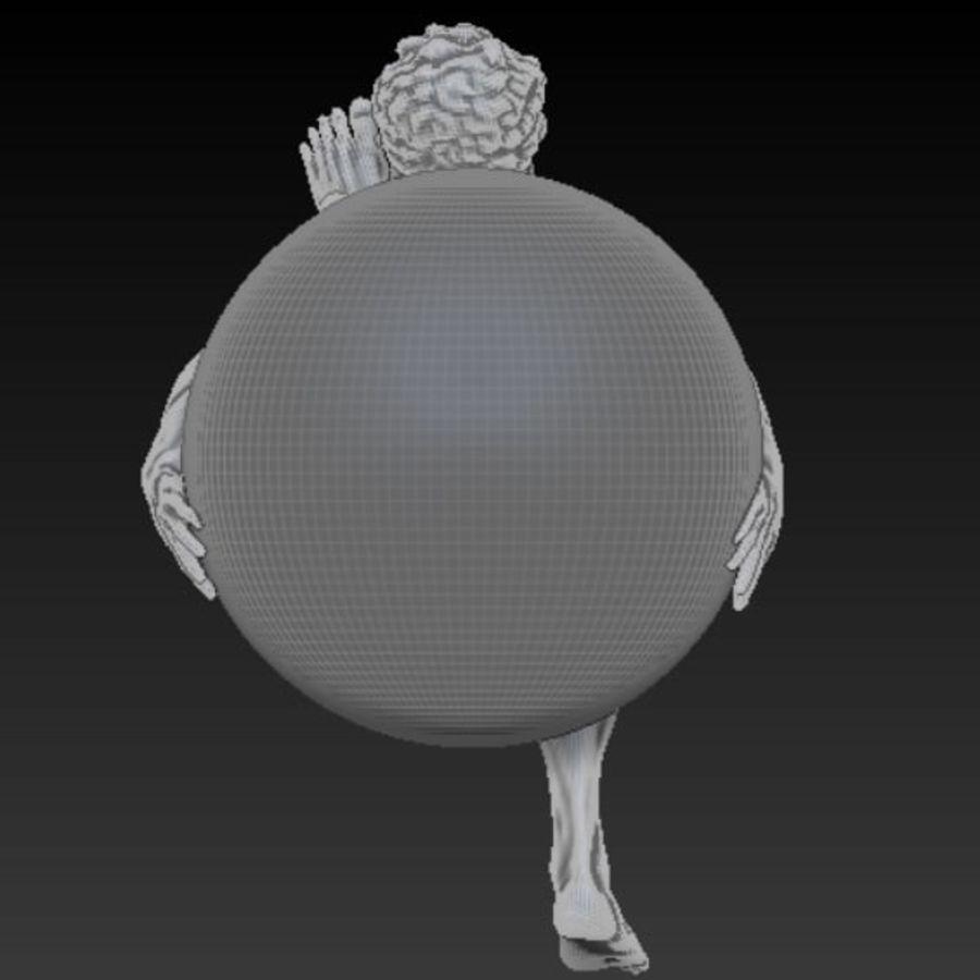 Статуя Атласа royalty-free 3d model - Preview no. 8