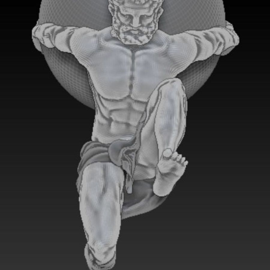 Статуя Атласа royalty-free 3d model - Preview no. 9