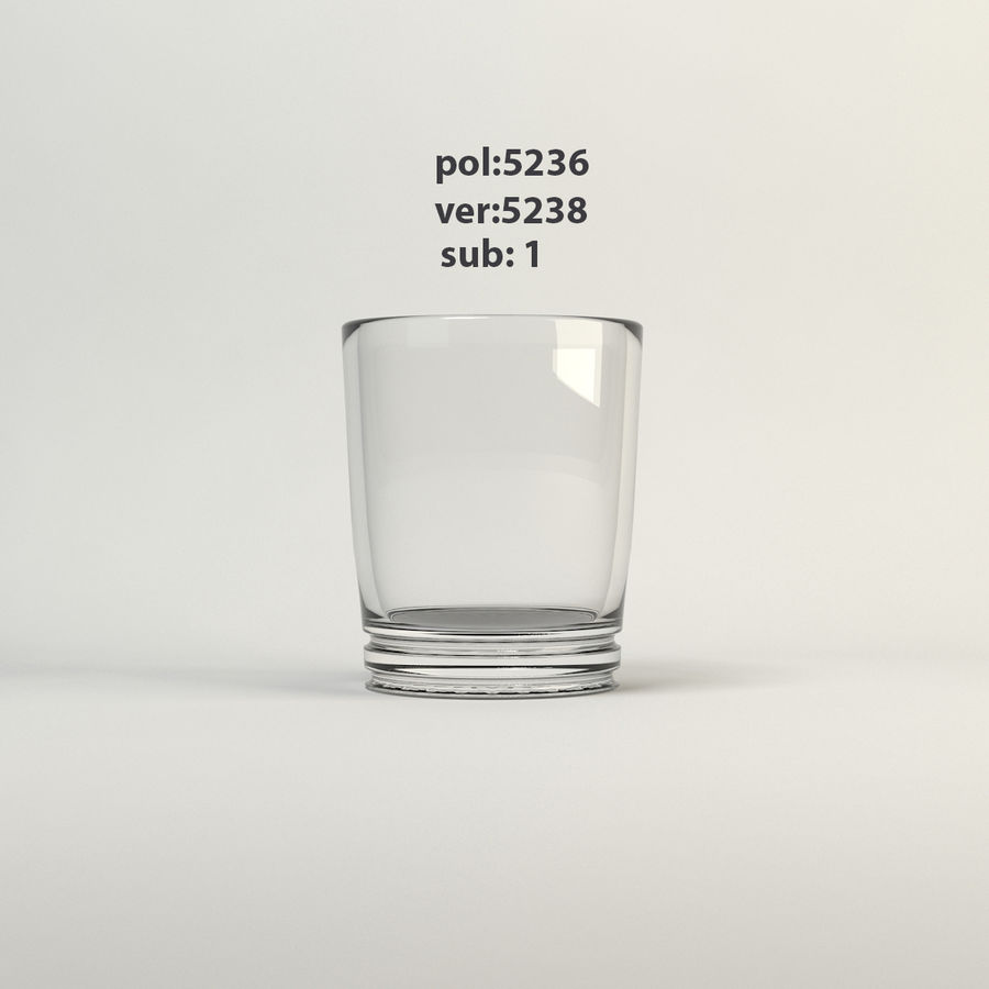 klart glas royalty-free 3d model - Preview no. 4
