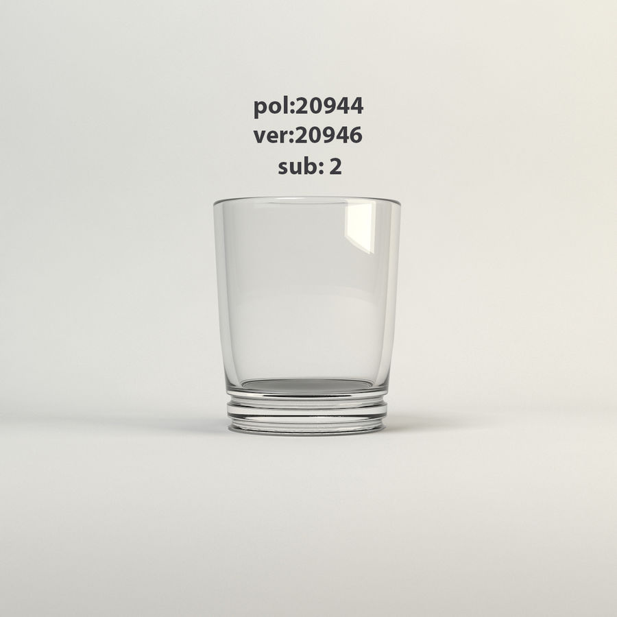 klart glas royalty-free 3d model - Preview no. 2