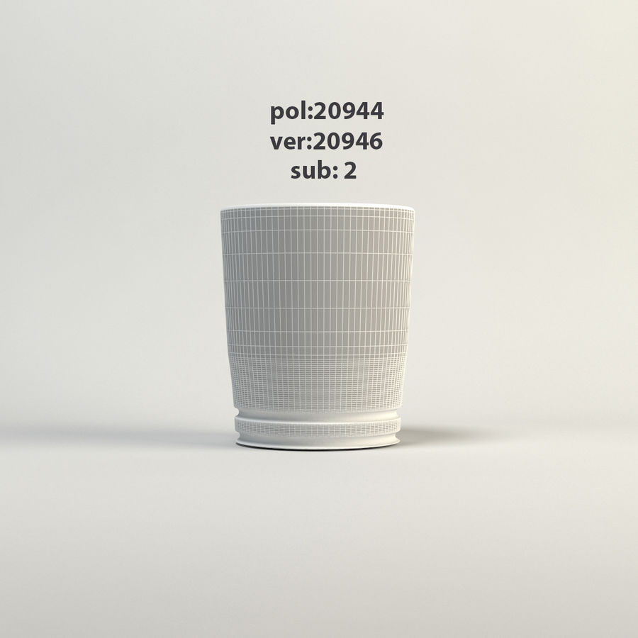 klart glas royalty-free 3d model - Preview no. 3