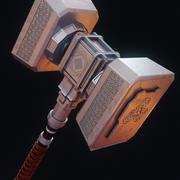молоток 3d model