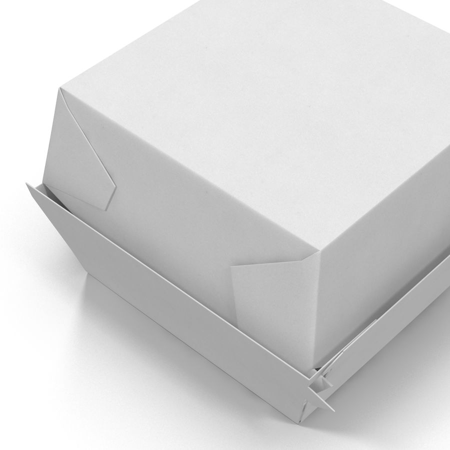 Burger Box Generic 3D model royalty-free 3d model - Preview no. 13
