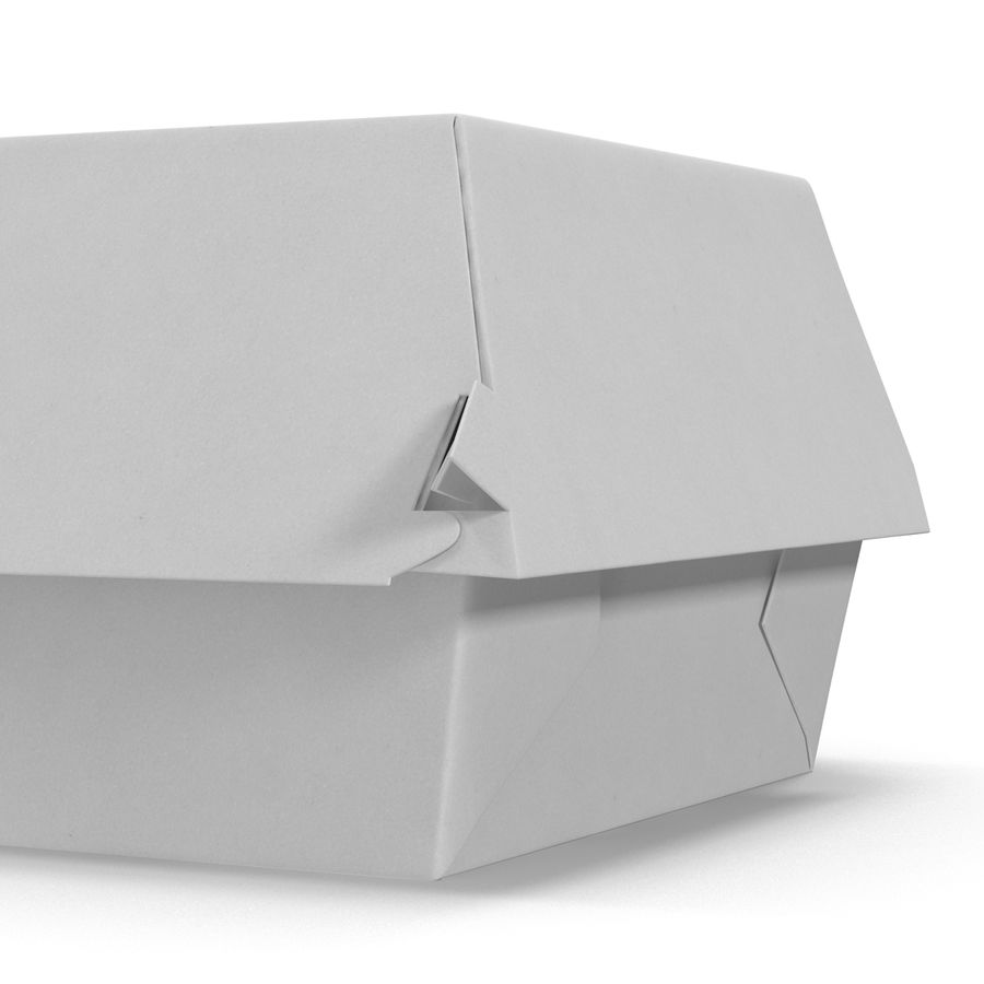 Burger Box Generic 3D model royalty-free 3d model - Preview no. 10