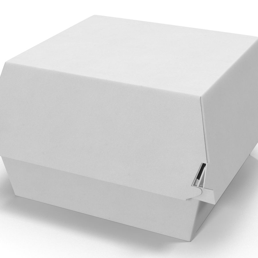 Burger Box Generic 3D model royalty-free 3d model - Preview no. 7