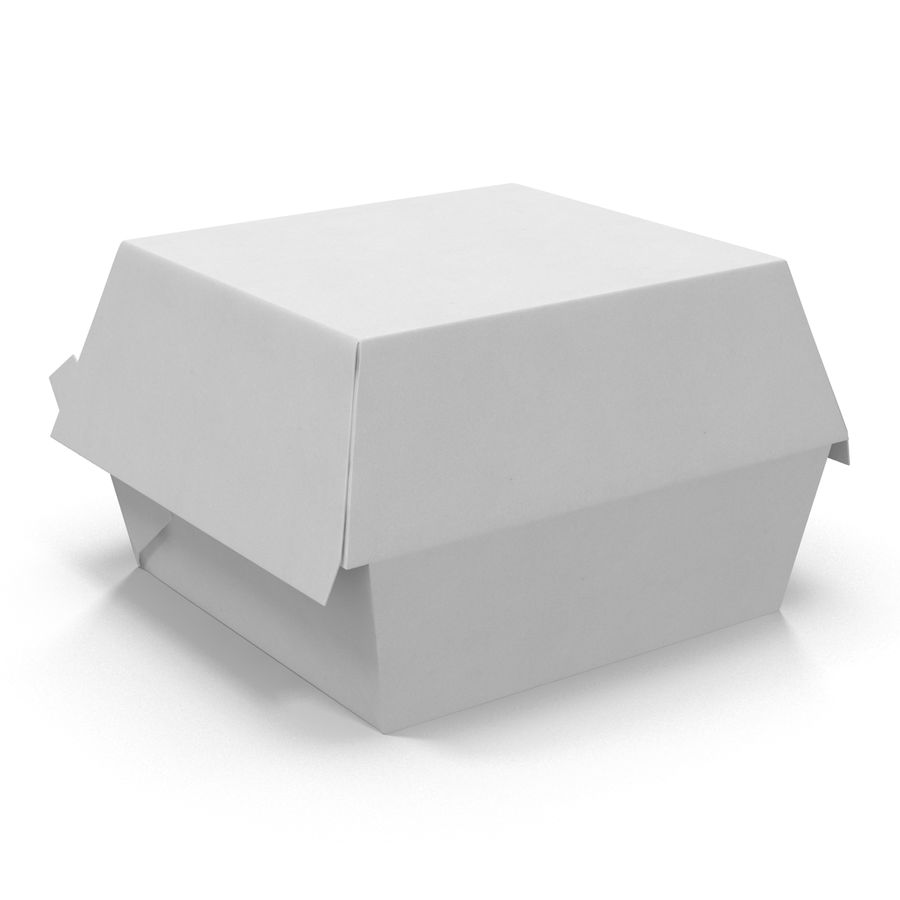 Burger Box通用3D模型 royalty-free 3d model - Preview no. 6