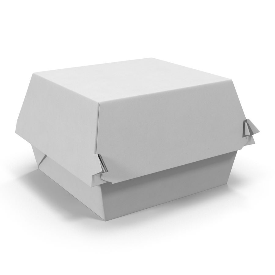 Burger Box Generic 3D model royalty-free 3d model - Preview no. 2