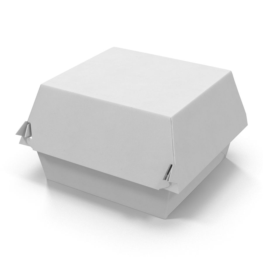 Burger Box Generic 3D model royalty-free 3d model - Preview no. 4