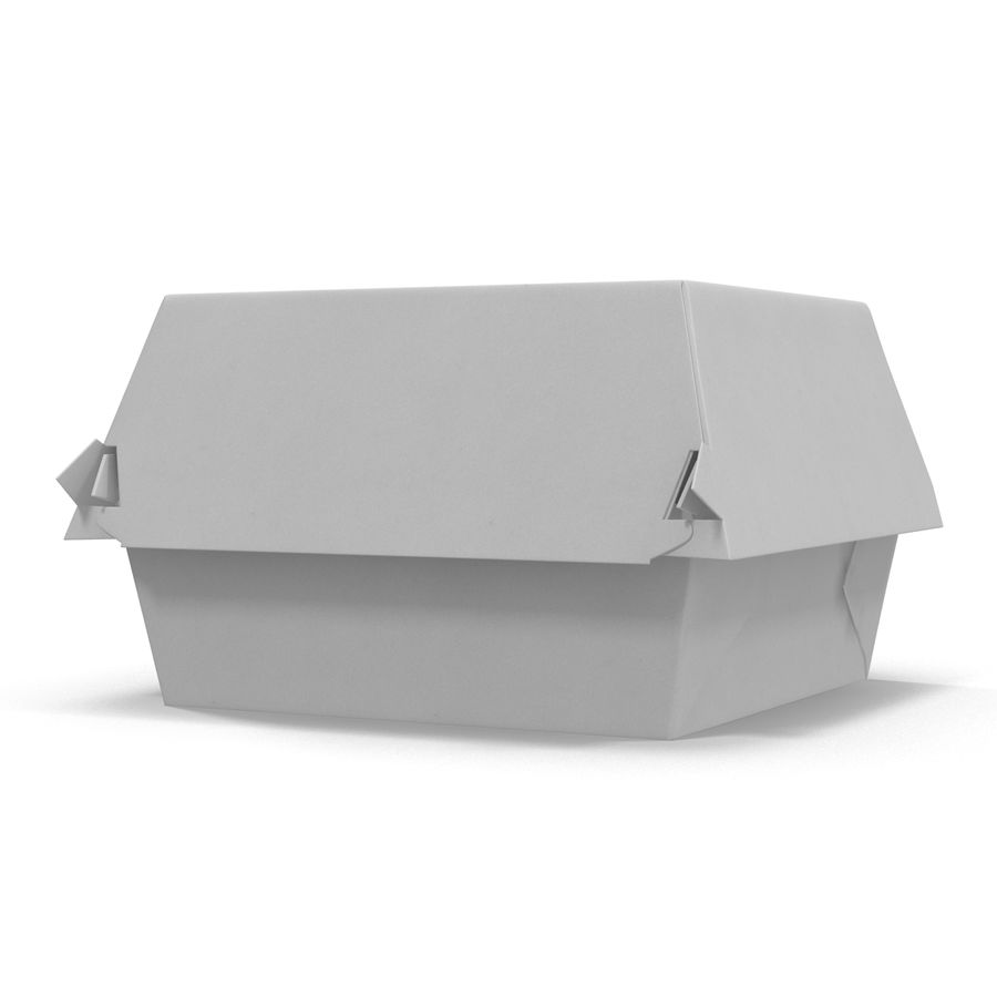 Burger Box Generic 3D model royalty-free 3d model - Preview no. 3
