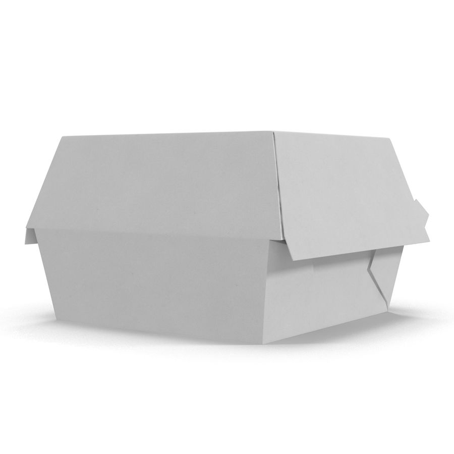 Burger Box Generic 3D model royalty-free 3d model - Preview no. 5