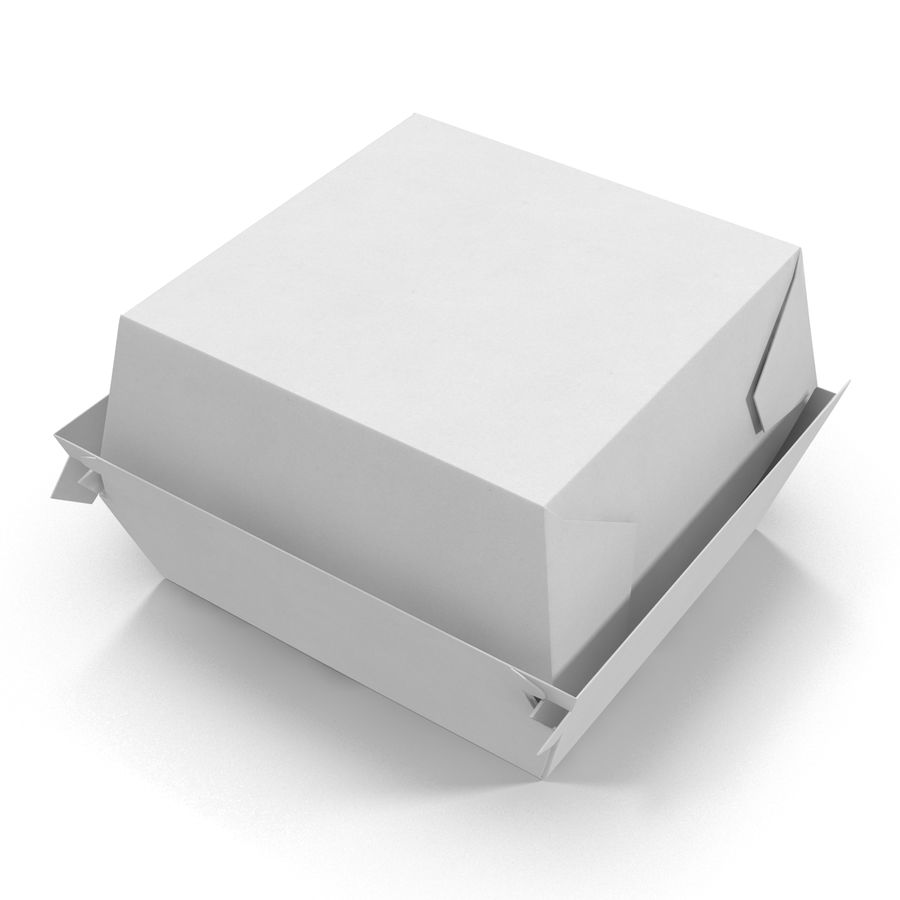 Burger Box Generic 3D model royalty-free 3d model - Preview no. 12